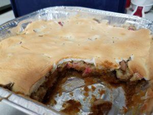 Rhubarb Torte in pan